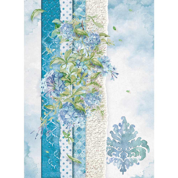 Stamperia A4 Rice Paper - Packed Flowers - DFSA4417