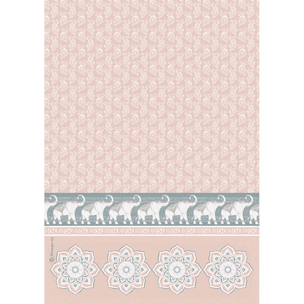 Stamperia A4 Rice Paper - DFSA4464, Art & Craft Paper by The Craft House