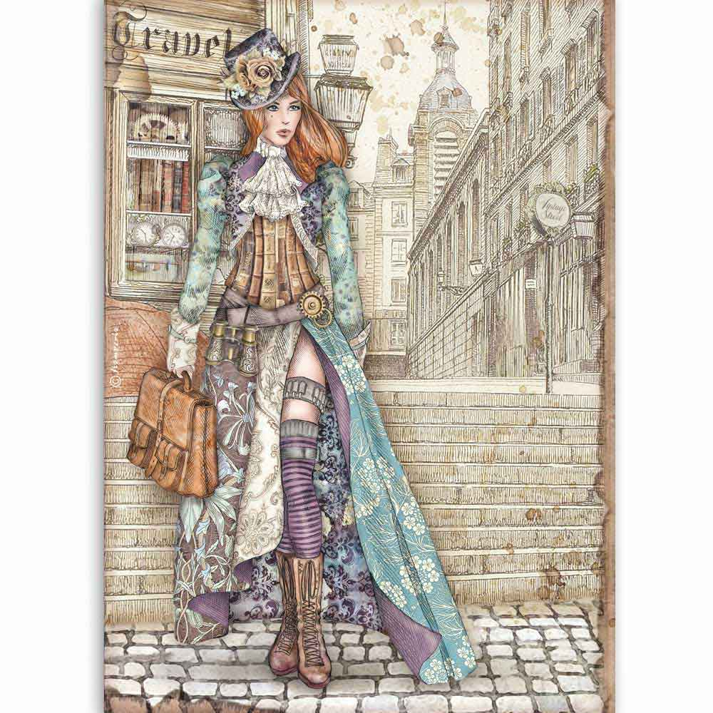 Stamperia A4 Decoupage Lady Vagabond DFSA4518, Art & Craft Kits by The Craft House