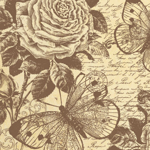 Stamperia 50 x 50cm Decoupage Rice Paper Rose and Butterfly