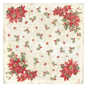 NEW Stamperia 50x 50cm Decoupage Rice Paper Christmas Poinsettia- DFT306 - DaliART