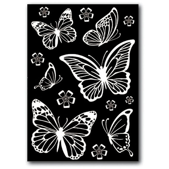 Stamperia Rub-On A5 Deco Transfer - 15x22.5cm Butterflies