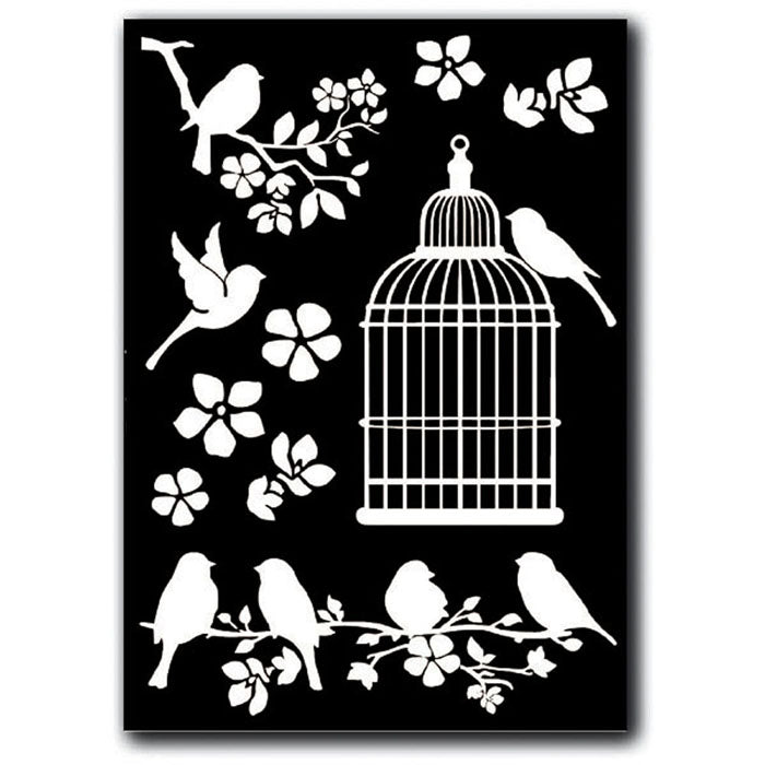 Stamperia Rub-On A5 Deco Transfer - 15x22.5cm Cage and Birds