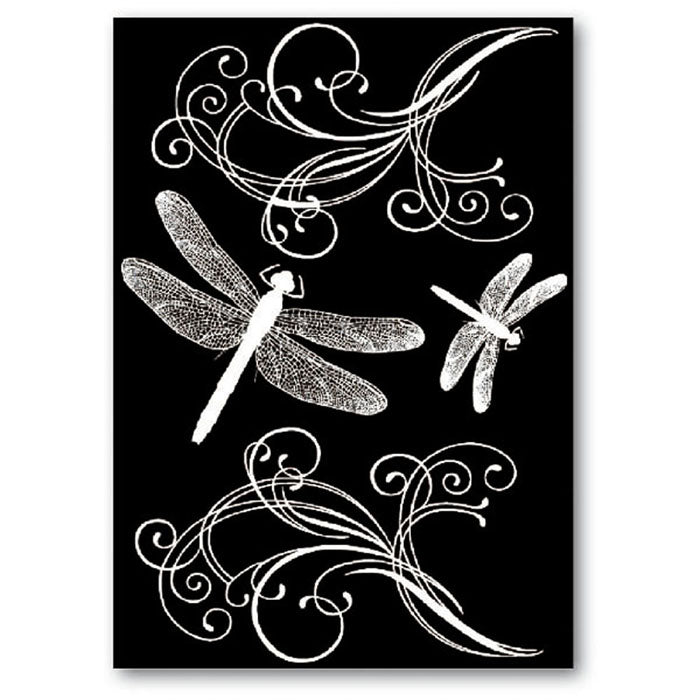 Stamperia Rub-On A5 Deco Transfer - 15x22.5cm Dragon Flies