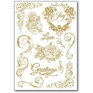 Stamperia Rub-On A5 Deco Transfer - 15x22.5cm Love Greetings