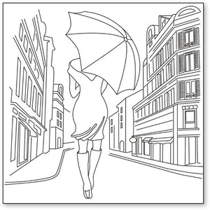 Stamperia Silhouette Art Napkin - Art Singing In the Rain -50x50cm