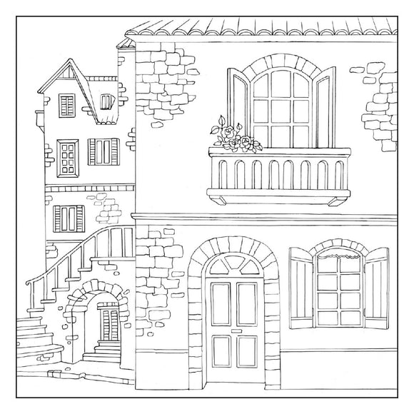 Stamperia Silhouette Art Napkin - Old House-50x50cm