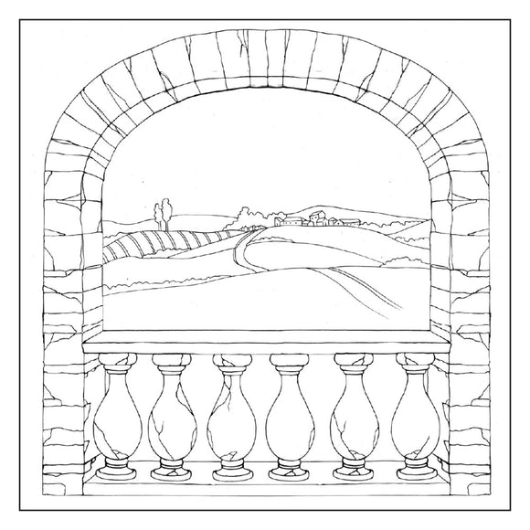 Stamperia Silhouette Art Napkin - Country Arch -50x50cm