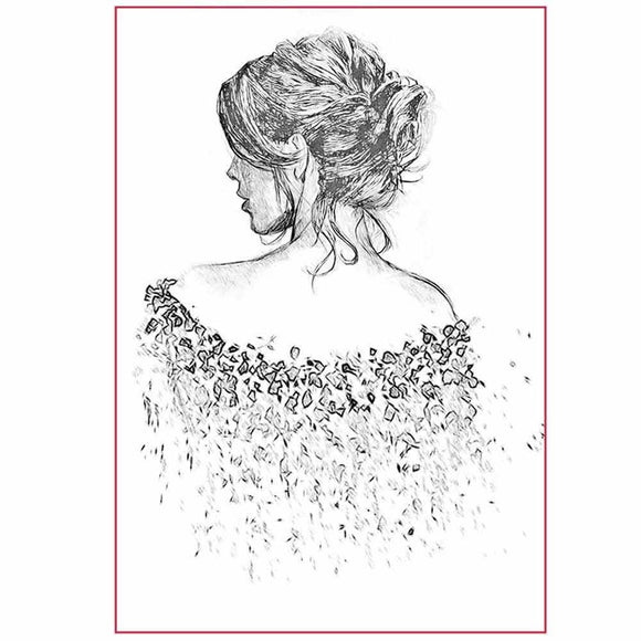 NEW Stamperia Silhouette Art Napkin - Walking Away -A4 - DaliART