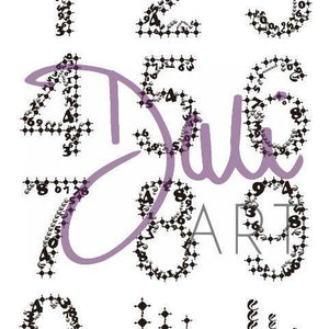 DaliART - Mehndi Numbers within Numbers Stamp - A5 - DaliART
