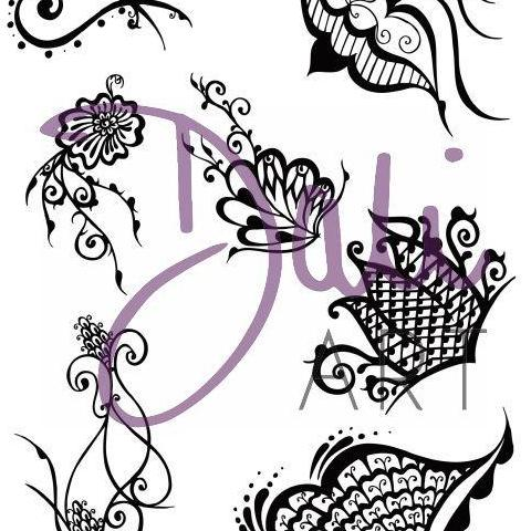 DaliART- Paisley Henna Patterns Stamp – A5 – As seen on TV - DaliART