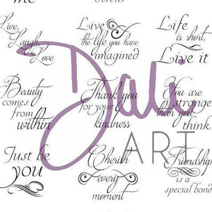 DaliART- 1″ Circle & Square Sentiments Stamp – As seen on TV - DaliART