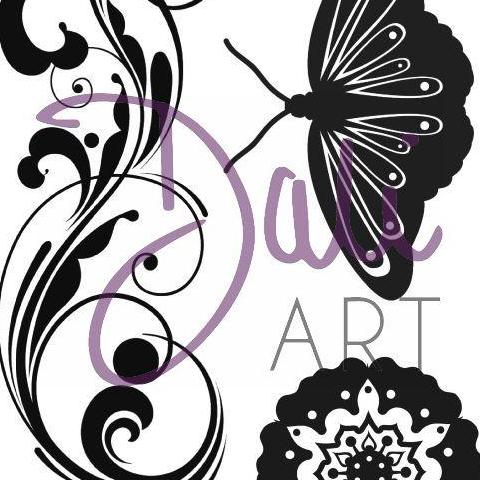 DaliART- Henna Flourish & Butterfly Flower Stamp – As seen on TV - DaliART
