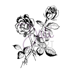 DaliART- Rose Flower Stamp