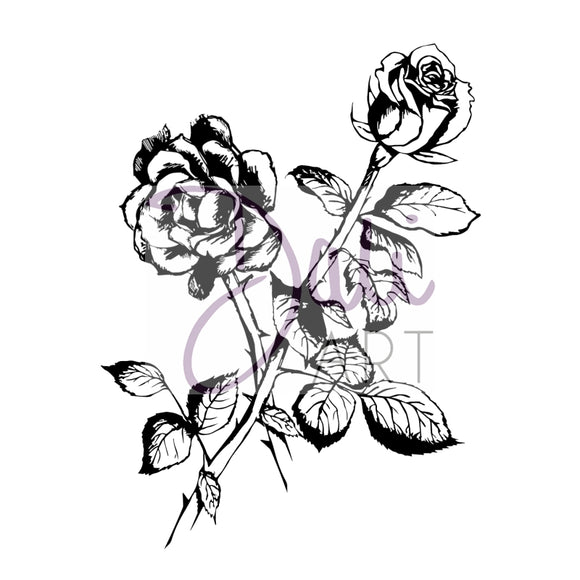 DaliART- Rose Flower Stamp - DaliART
