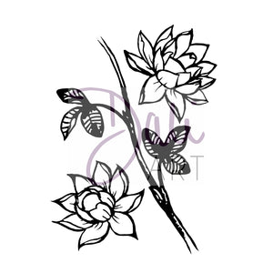 DaliART- Lotus Flower Stamp