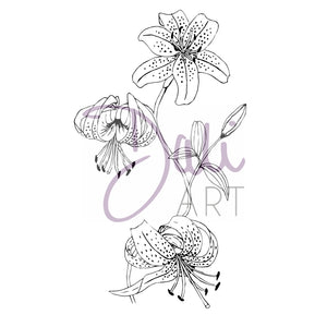 DaliART- Lilly Flower Stamp