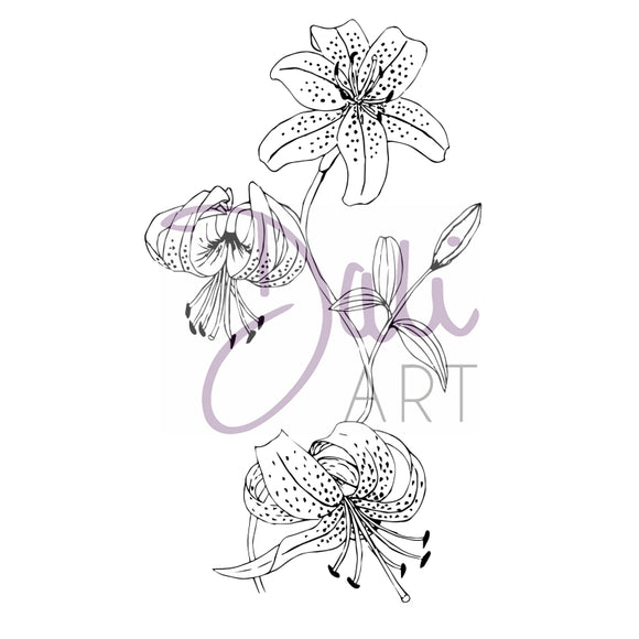 DaliART- Lilly Flower Stamp - DaliART