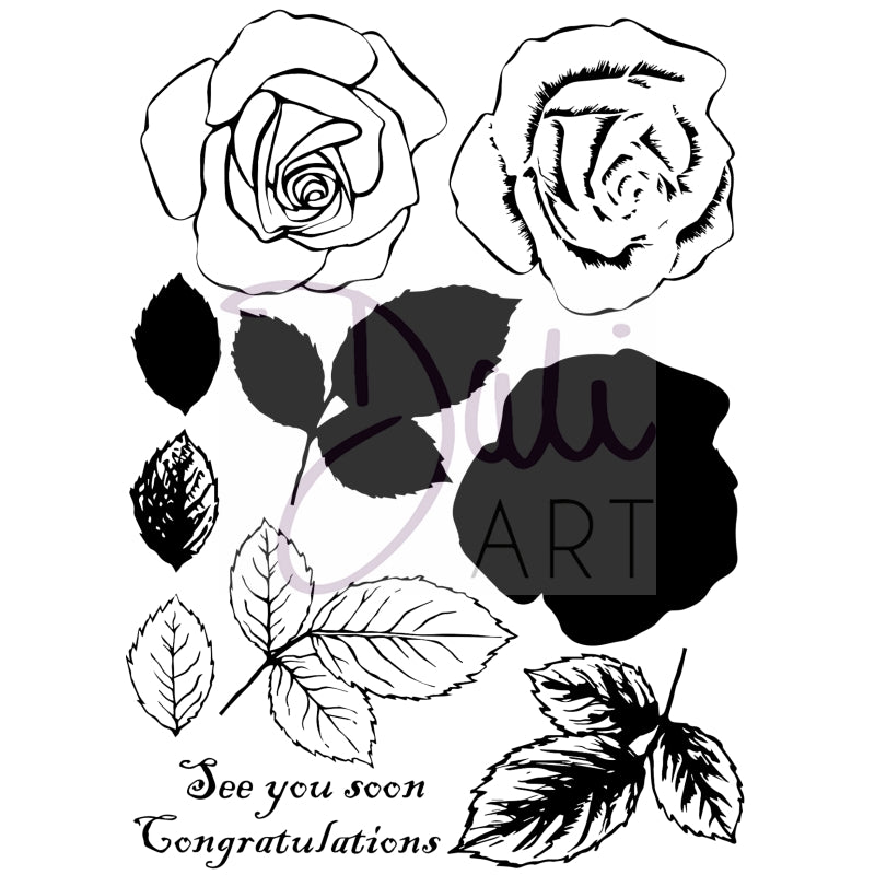 DaliART- Layered Rose Stamp - DaliART
