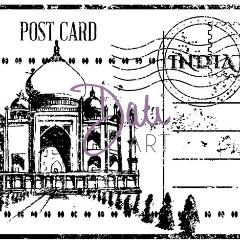 DaliART Taj Mahal Post Collage Rubber Stamp - DaliART