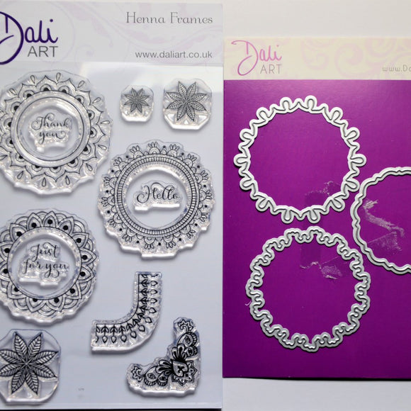 DaliART- Henna Frame Stamps & Matching Die - DaliART