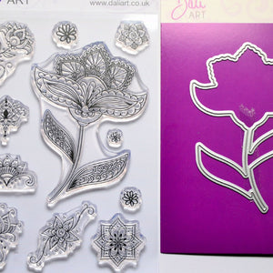 DaliART- Henna Flower Stamps and Matching Die