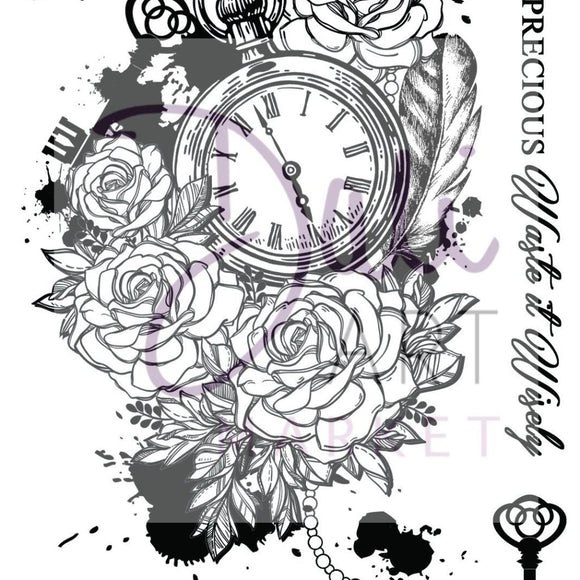 DaliART - Time is Precious A6 Stamp - DaliART