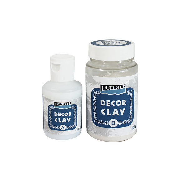Pentart Decor clay set, 100 g + 40 ml