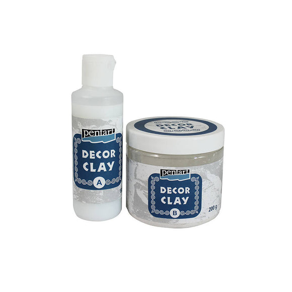 Pentart Decor clay set, 200 g + 80 ml