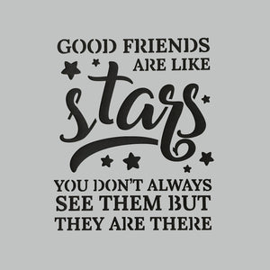 "DaliART Stencils - Friends Are Stars - 7x7"" - DaliART"