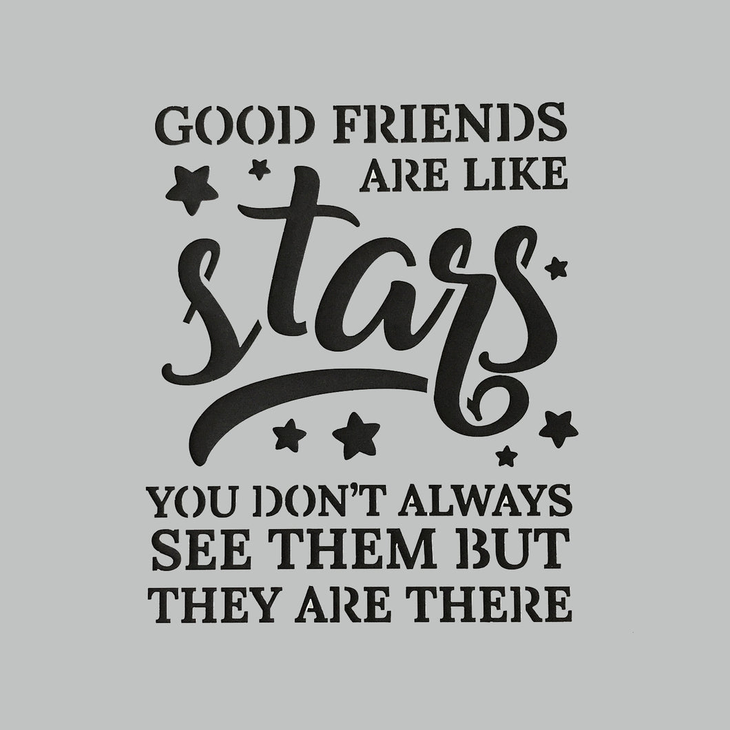 DaliART Stencils - Friends Are Stars - 7x7