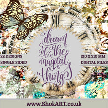 "Load image into Gallery viewer, ShokART- 8x8"" Scrapbooking - Dream of the Magical Things- Digital Download"