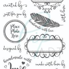 PipART- Handmade With Love Stamp - A6