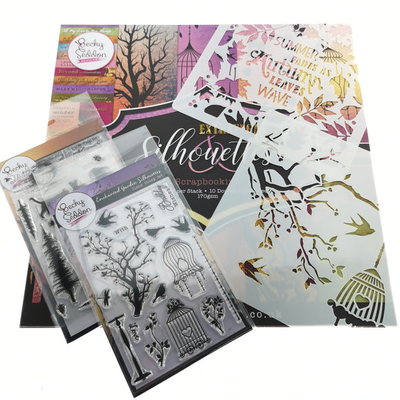 Becky Seddon 'Silhouettes' Scrapbooking Stack