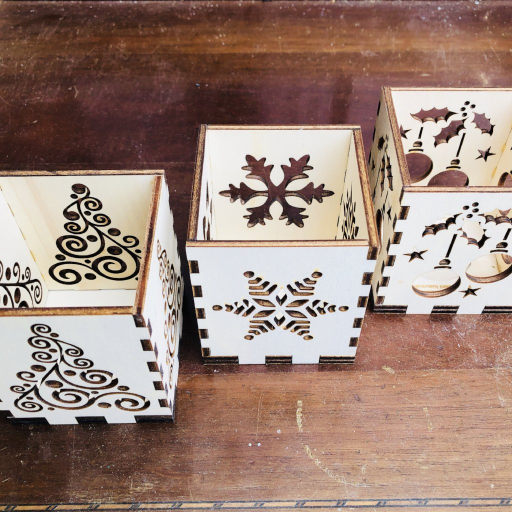 DaliTV52 Wooden Christmas Tea Light Holders - 3 Designs, Craft Shapes & Bases by The Craft House