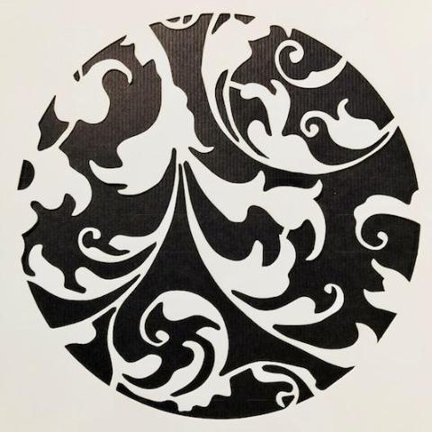 DaliART Stencils - Filigree Circle - 7x7
