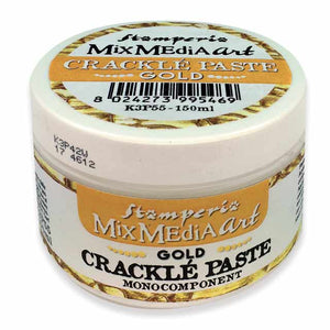 New Stamperia GOLD Crackle Paste One Component K3P55