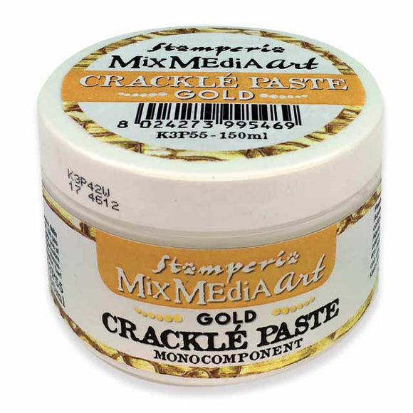 Stamperia GOLD Crackle Paste One Component K3P55