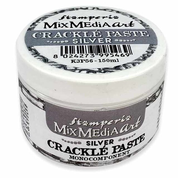 New Stamperia  SLIVER Crackle Paste One Component K3P56 - DaliART