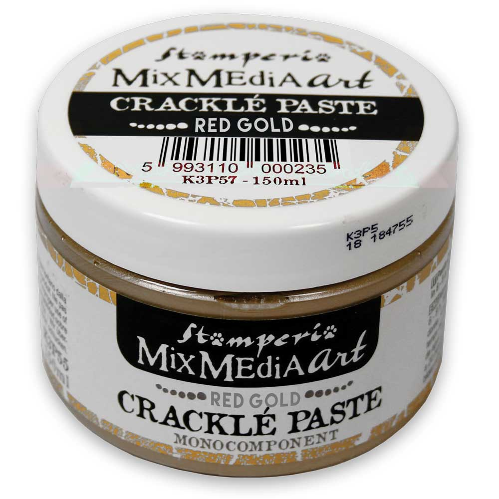 Stamperia RED GOLD Crackle Paste One Component K3P57