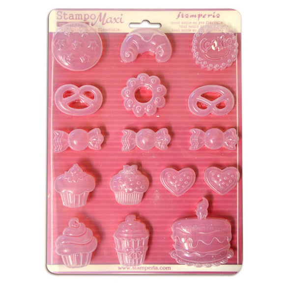 Stamperia A4 Moulds - Cakes & Sweets