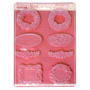NEW Stamperia A4 Moulds - Frames & Borders