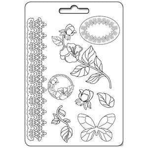 Stamperia A4 Moulds - Border Flourish