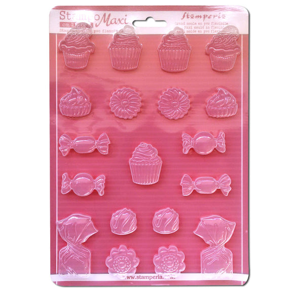 Stamperia A4 Moulds - Cupcakes