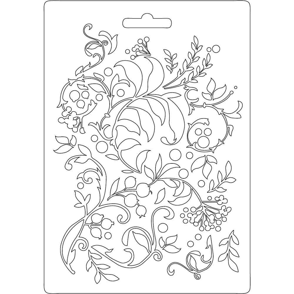 Stamperia Texture Impression Moulds - A5 - Flourish - K3PTA502, Arts & Crafts by The Craft House