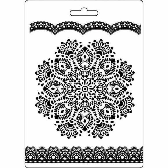 NEW Stamperia Texture Impression Moulds - A5 - Doily Pattern K3PTA516