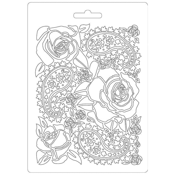 NEW Stamperia Texture Impression Moulds - A5 - Roses- K3PT520