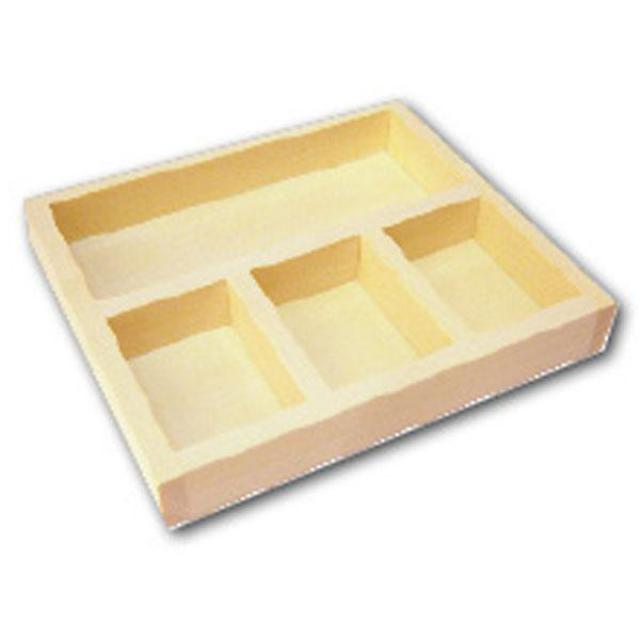 Stamperia Wooden Tray - 3 sections -14x12.5x2cm