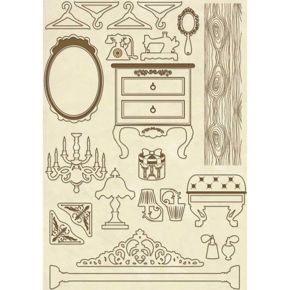 NEW Stamperia Wooden Shapes A5 Frames- Home Decor