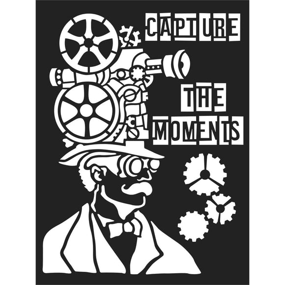 NEW Stamperia Stencil - Thick Stencil -15 x20cm - Capture the moments -KSAT02